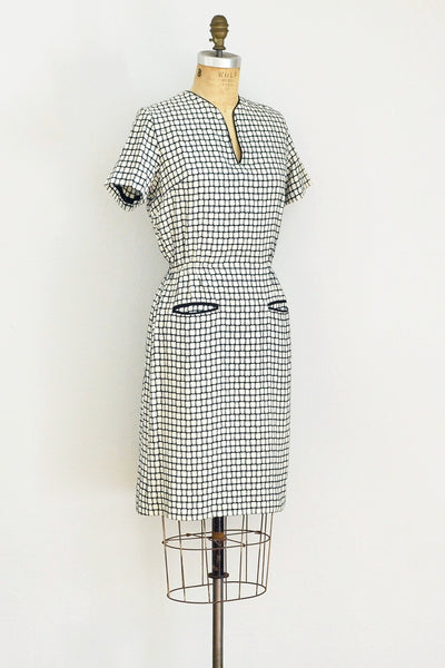 1950s Notched Dress - Pickled Vintage