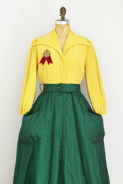 1940s Over Dress - Pickled Vintage