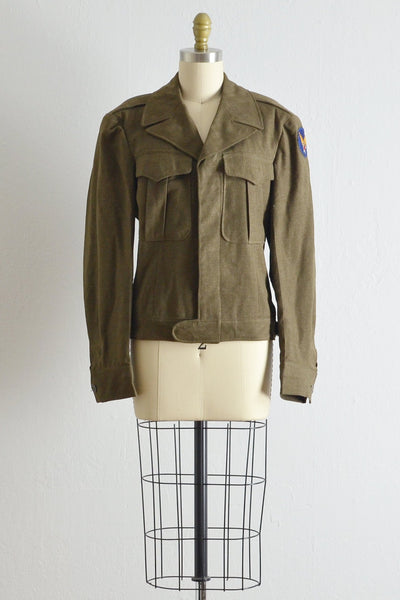 Vintage 1940s Army Green Battle Jacket - Pickled Vintage