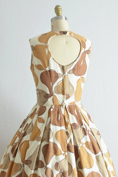Vintage 1950s Cut Out Pear Dress - Pickled Vintage