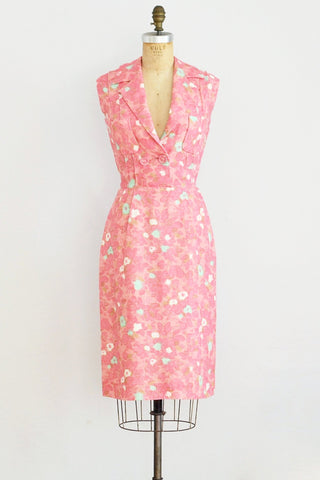 1950s Pink Wiggle Dress - Pickled Vintage