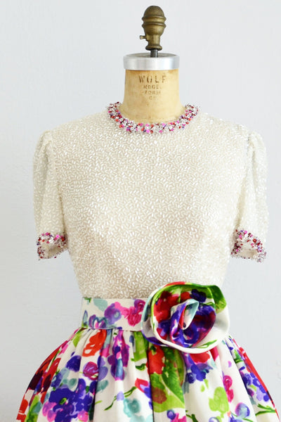 Beaded Silk Dress - Pickled Vintage