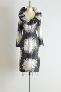 Vintage 1960s Silk Dramatic Collar Dress - Pickled Vintage