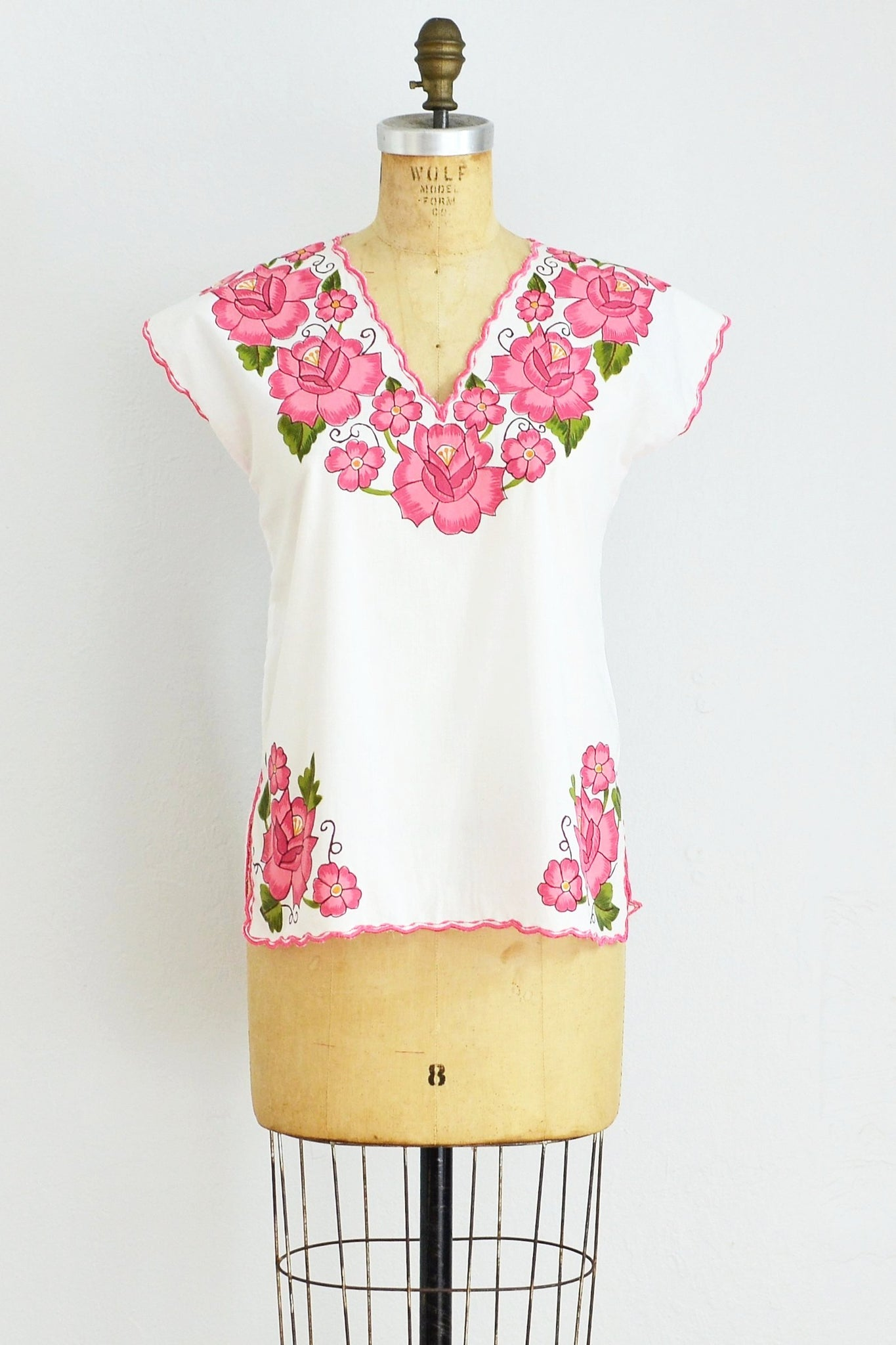 Hand Painted Top - Pickled Vintage