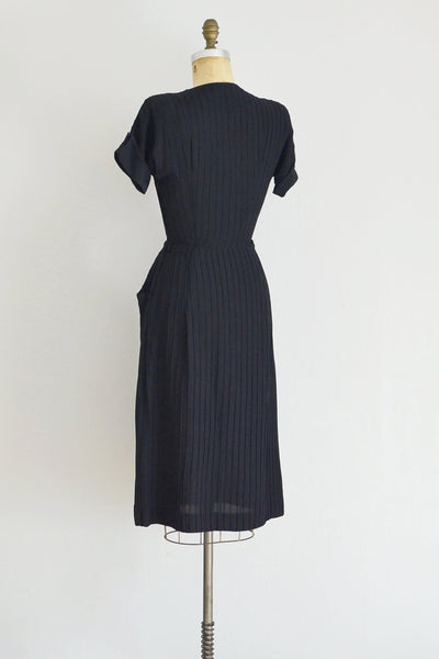 40s Pintuck Dress - Pickled Vintage