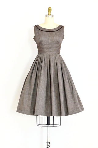 1950s Pleated Dress - Pickled Vintage