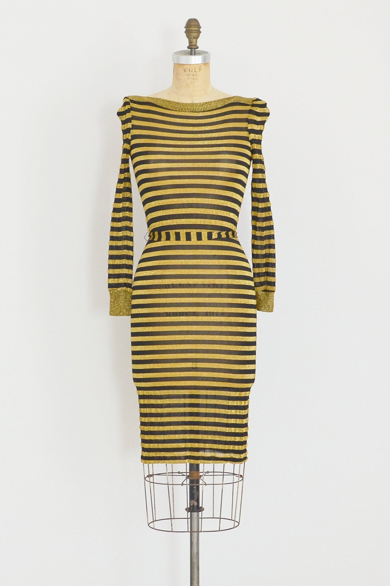 Gold Lurex Dress - Pickled Vintage