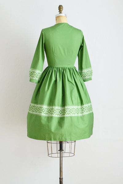 50s Green Dress - Pickled Vintage