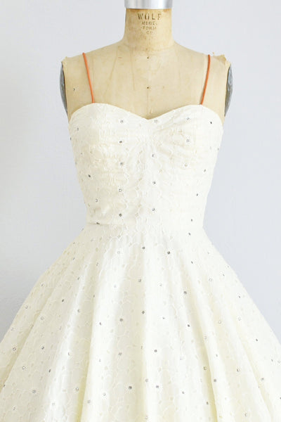 Rhinestone Studded Party Dress - Pickled Vintage