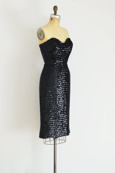 Strapless Sequin Dress - Pickled Vintage