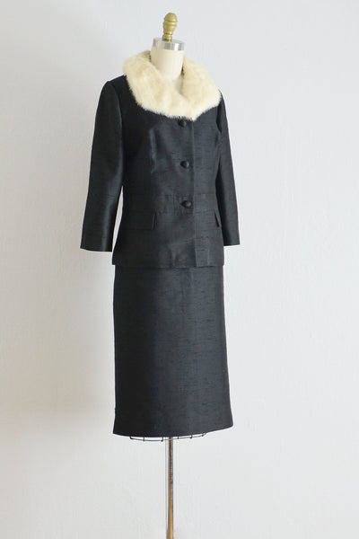 Vintage 1960s Black Silk Suit - Pickled Vintage