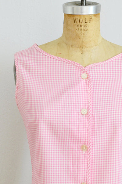 50s Gingham Blouse - Pickled Vintage