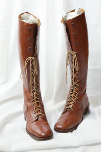 Cavalry Tall Lace-up Boots - Pickled Vintage