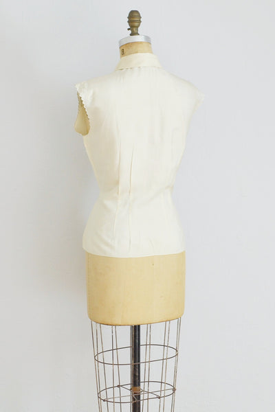 Cream Silk Blouse - Pickled Vintage