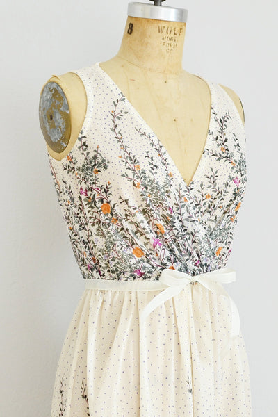 70s Garden Vine Dress - Pickled Vintage