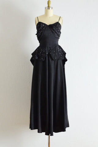 Vintage 1940s Elegante Dress - Pickled Vintage