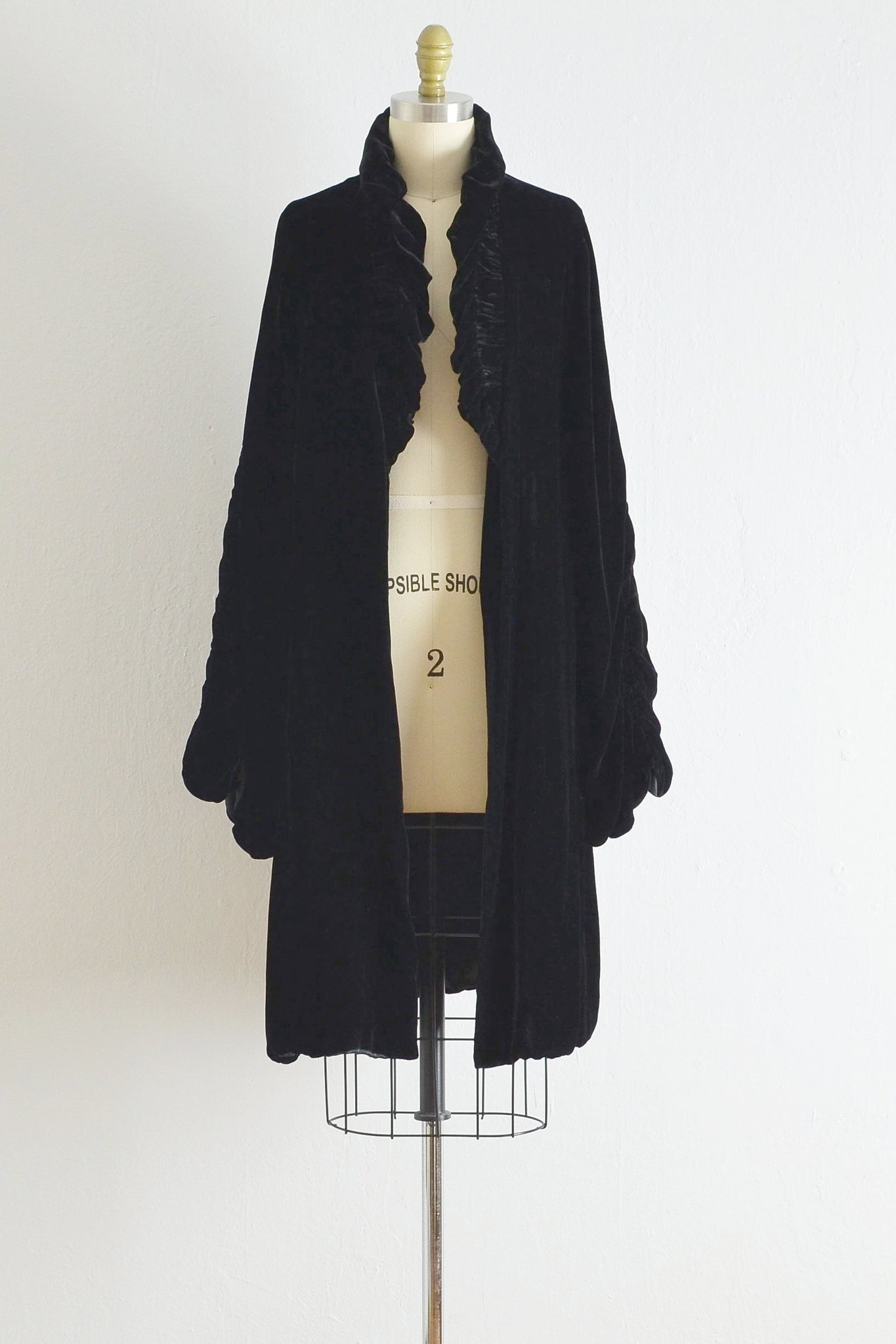 Vintage Black Velvet Opera Coat - Pickled Vintage