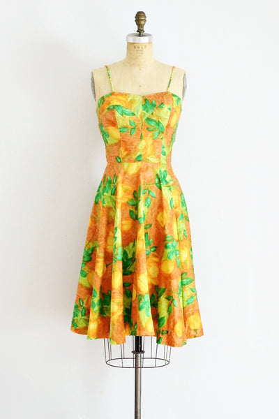 50s Lace-up Dress - Pickled Vintage