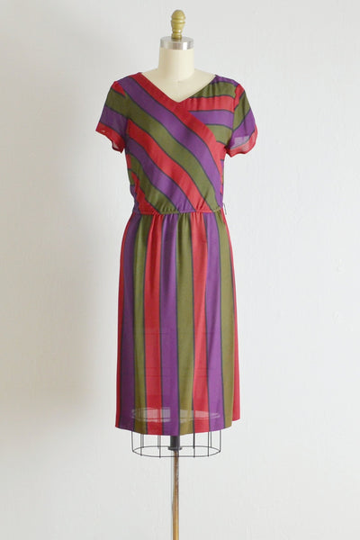 Vintage 1970s Striped Dress - Pickled Vintage