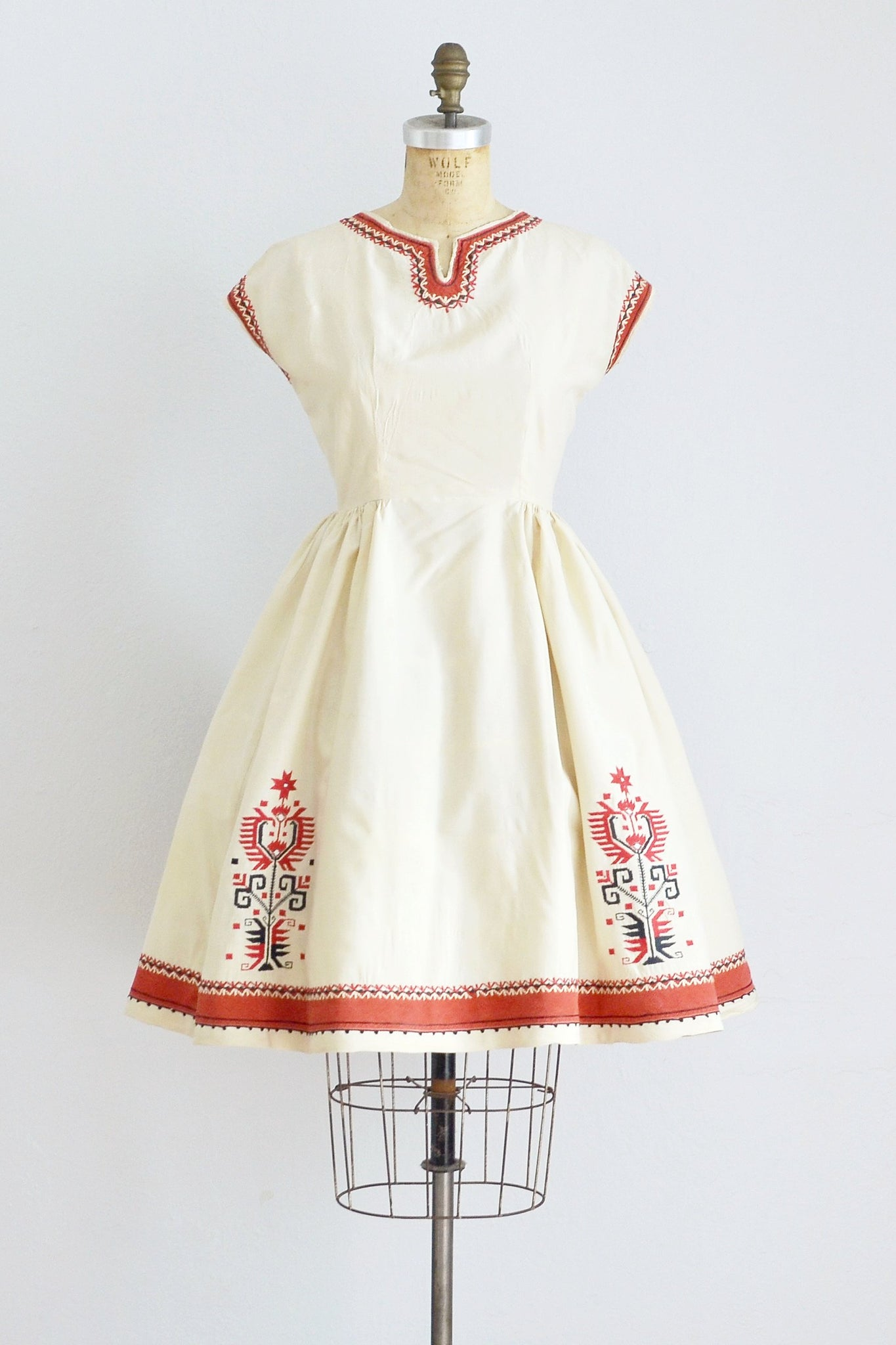 Bulgarian Embroidered Dress - Pickled Vintage