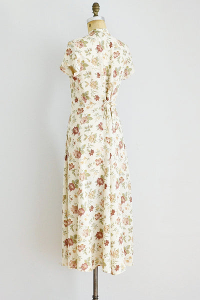 Floral Midi Dress - Pickled Vintage