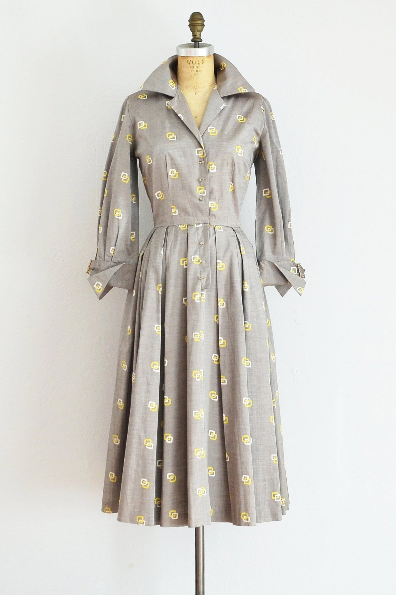 As Is / Shirtwaist Party Dress - Pickled Vintage