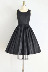 50s Tifanny Black Dress - Pickled Vintage