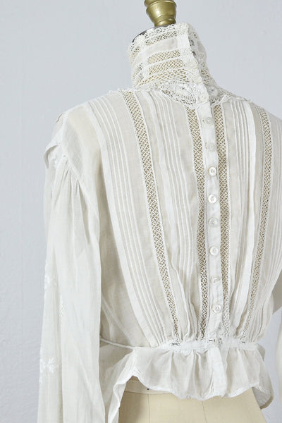 Vintage Edwardian Lawn Blouse - Pickled Vintage
