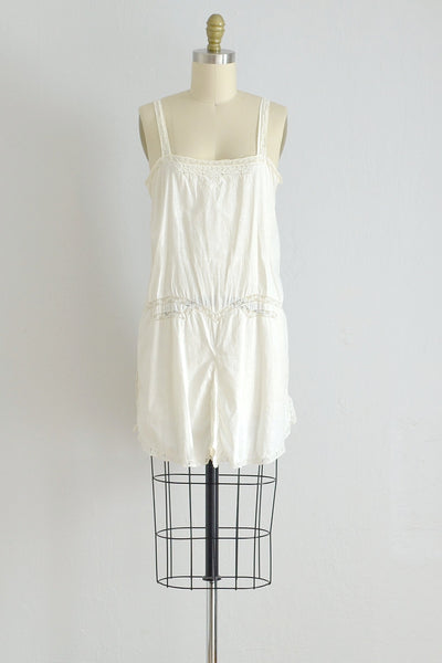 20s Cotton Step-in Teddy - Pickled Vintage