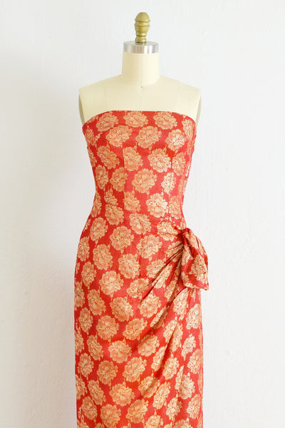 As Is / Strapless Party Dress - Pickled Vintage