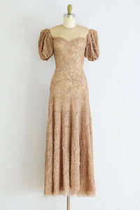 1930s Illusion Dress - Pickled Vintage