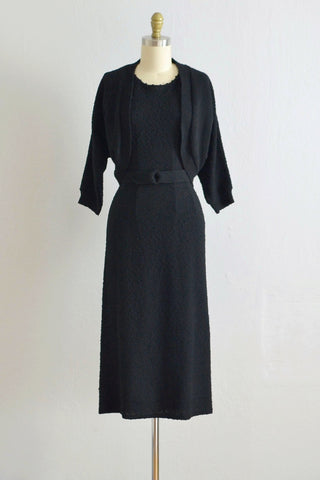 40s  Snyderknit Sweater Dress Set - Pickled Vintage