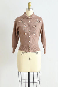 40s Butterfly Sweater - Pickled Vintage