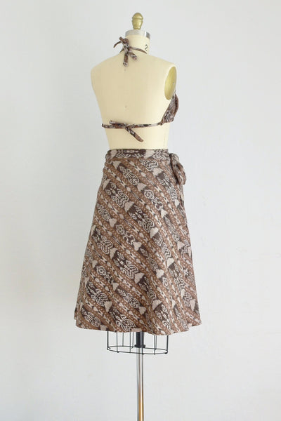 Sand Dunes Top Skirt Set - Pickled Vintage