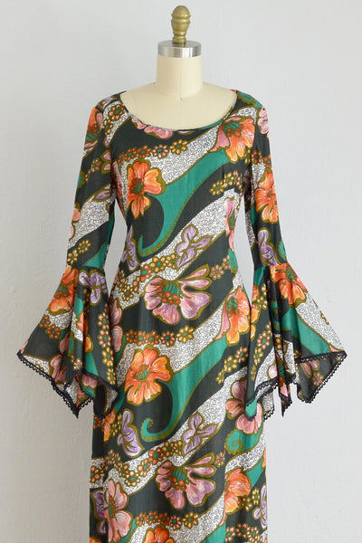 60s Majestic Maxi Dress - Pickled Vintage