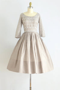 50s Eyelet Dress - Pickled Vintage