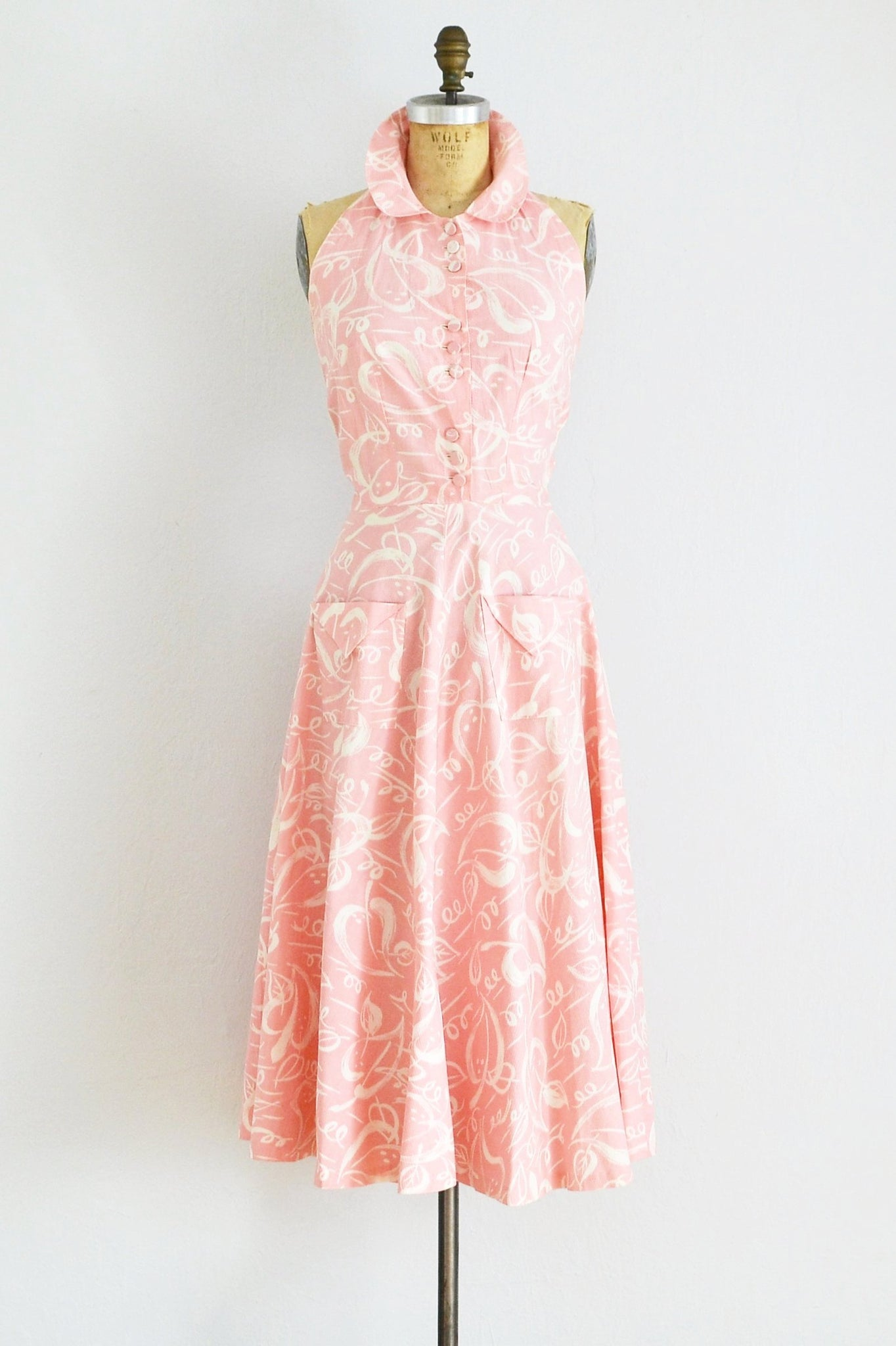 50s Halter Dress - Pickled Vintage
