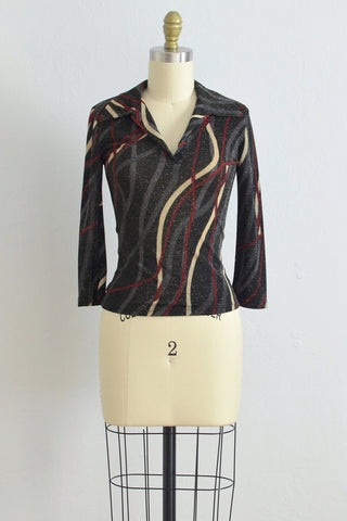 Freeway Lurex Blouse - Pickled Vintage