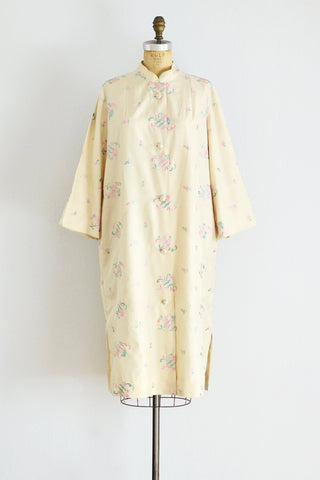 Silk Housecoat - Pickled Vintage