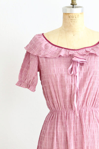 70s Dusty Rose Dress - Pickled Vintage