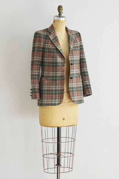 70s Plaid Jacket - Pickled Vintage