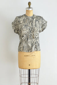 50s Silk Paisley Top - Pickled Vintage