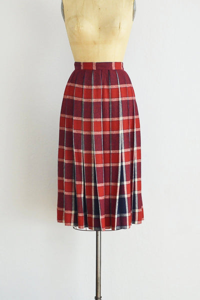 50s Plaid Skirt - Pickled Vintage