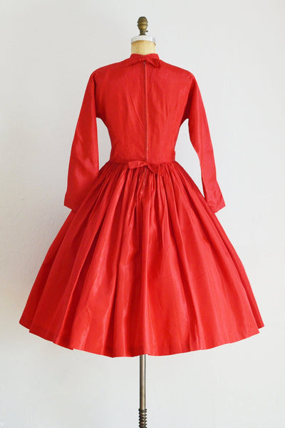 50s Red Party Dress - Pickled Vintage