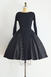 1950s Black Cupcake Dress - Pickled Vintage