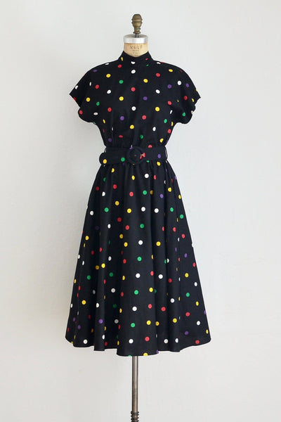 Cut-out Polka Dot Dress - Pickled Vintage