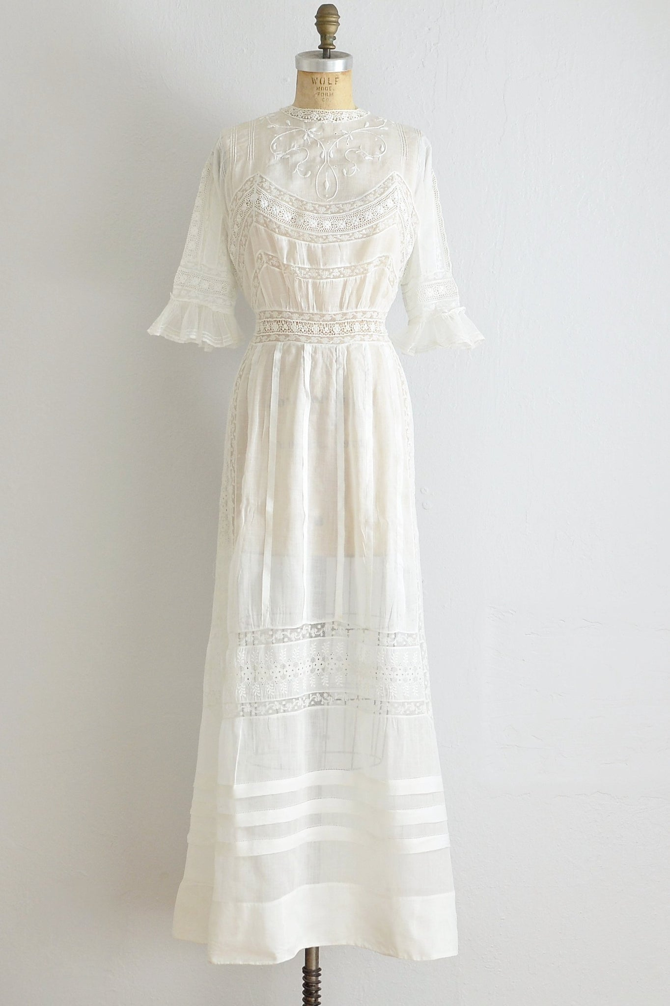 Edwardian Lace Lawn Dress - Pickled Vintage