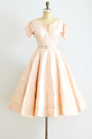 50s Trapunto Party Dress - Pickled Vintage