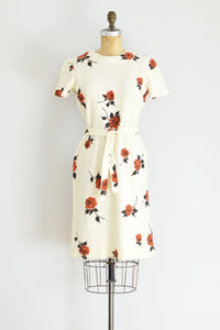 Rose Print Dress - Pickled Vintage