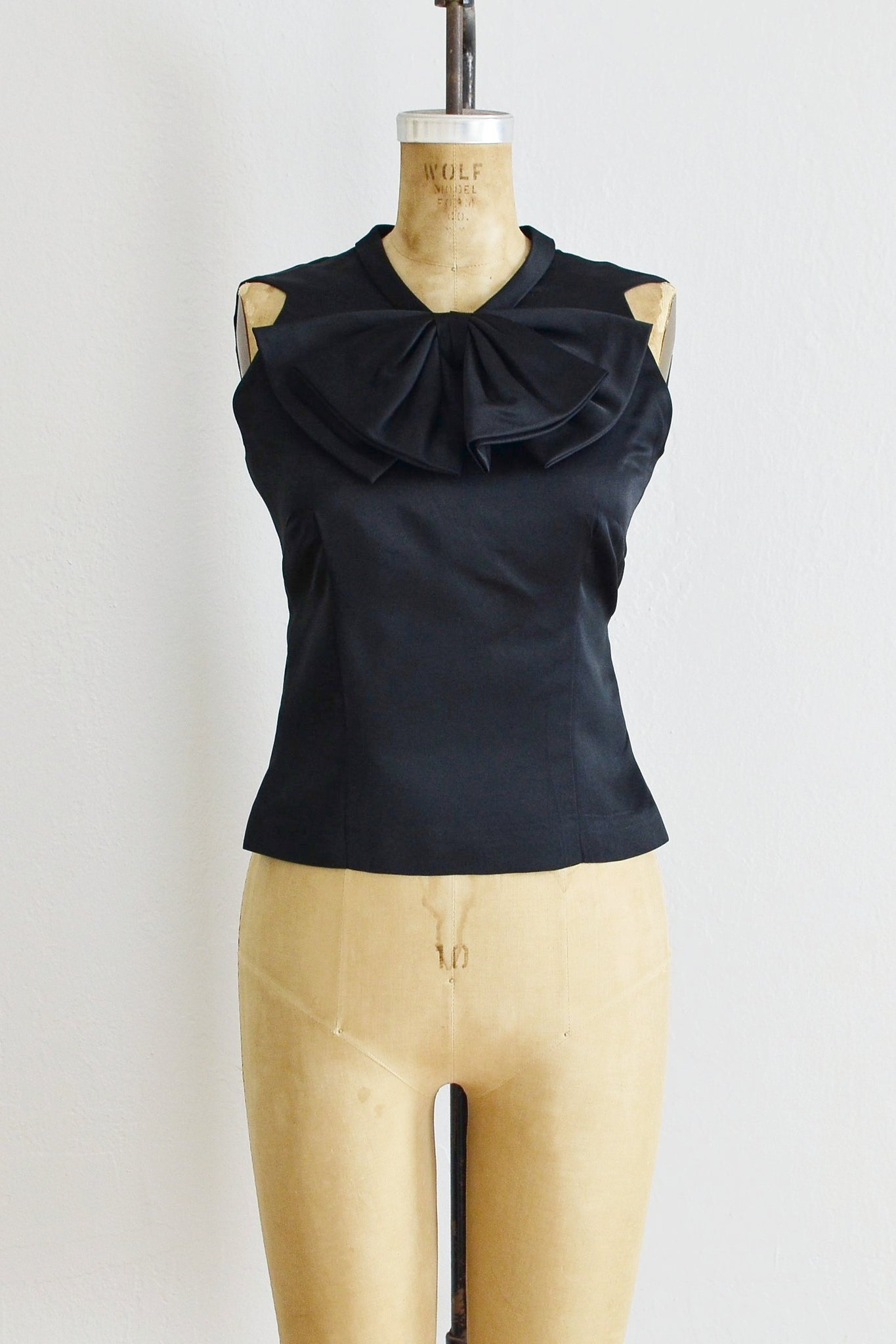 Bow Front Silk Top - Pickled Vintage